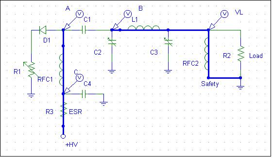 Charging path for amplifier blocking capacitor