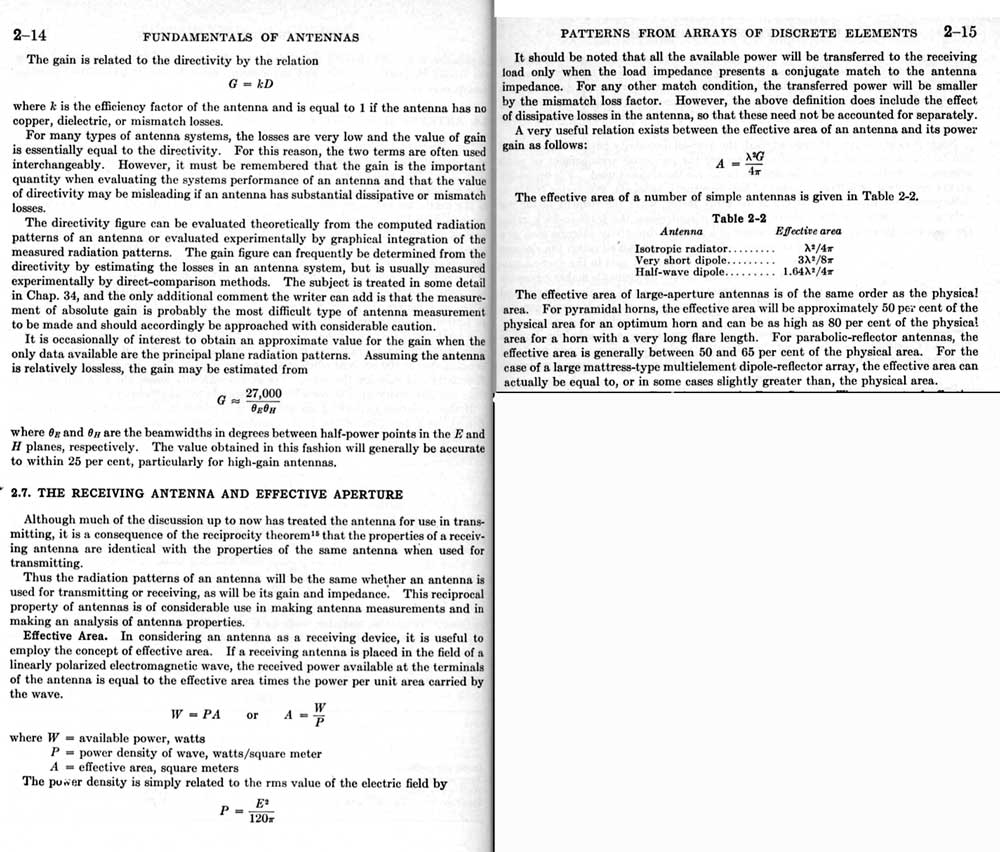 capture area gain effective aperture
