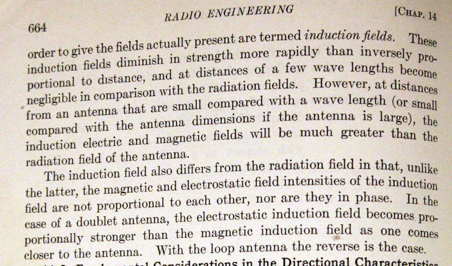 induction fields radiation
