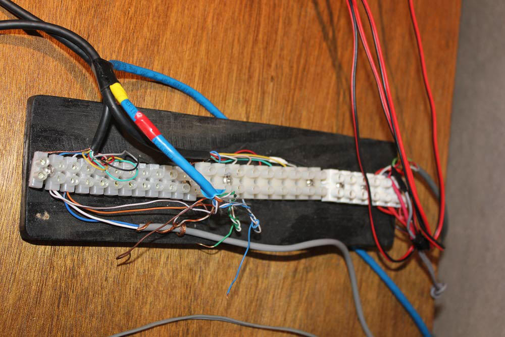 portable wiring block for antenna control functions